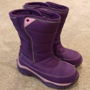 Lands End Girls Purple Snow Boots